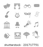 theater acting  icons set black ... | Shutterstock .eps vector #231717751