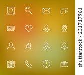 white thin line icons set for... | Shutterstock .eps vector #231717961