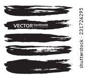 black handdrawn realistic long... | Shutterstock .eps vector #231726295