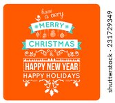 merry christmas card wishes ... | Shutterstock .eps vector #231729349