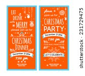 invitation merry christmas.... | Shutterstock .eps vector #231729475