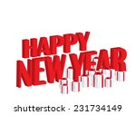 happy new year text with gift... | Shutterstock . vector #231734149