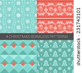set of simple christmas... | Shutterstock .eps vector #231743101