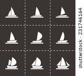 vector sailboat icon set on... | Shutterstock .eps vector #231746164