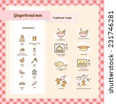 gingerbread men recipe with... | Shutterstock .eps vector #231746281