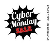 cyber monday sale grunge rubber ... | Shutterstock .eps vector #231752425