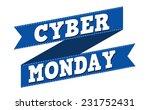 cyber monday banner design over ... | Shutterstock .eps vector #231752431