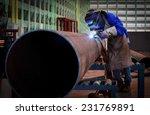 pipe welding | Shutterstock . vector #231769891
