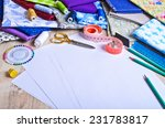 accessories for the tailor or... | Shutterstock . vector #231783817