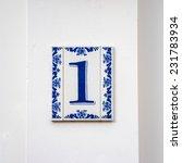 delft blue porcelain house... | Shutterstock . vector #231783934