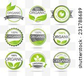 set of fresh organic labels and ... | Shutterstock .eps vector #231788689