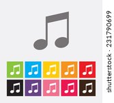 note icon   vector  | Shutterstock .eps vector #231790699