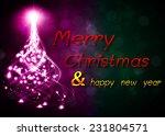 christmas tree from light... | Shutterstock .eps vector #231804571