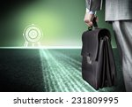 bottom view of businessman with ... | Shutterstock . vector #231809995