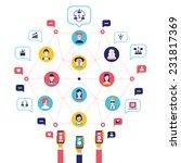 social network concept. global... | Shutterstock .eps vector #231817369
