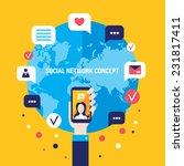 social network concept...   Shutterstock .eps vector #231817411