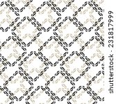 pattern with twisted squares in ... | Shutterstock .eps vector #231817999
