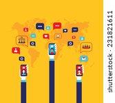 social network concept... | Shutterstock .eps vector #231821611
