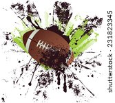 american football  rugby ball... | Shutterstock .eps vector #231823345