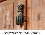 authentic door knocker. antique ... | Shutterstock . vector #231830041