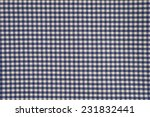 Blue And White Gingham Cloth...