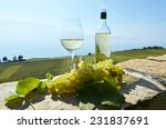 wine and grapes. lavaux ... | Shutterstock . vector #231837691