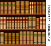 seamless library shelves with... | Shutterstock .eps vector #231845089