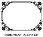 calligraphy penmanship curly... | Shutterstock .eps vector #231845131
