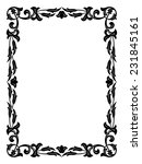 calligraphy penmanship curly... | Shutterstock .eps vector #231845161