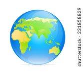 vector globe europe asia icon... | Shutterstock .eps vector #231858829