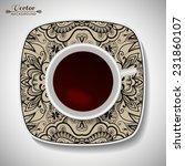 vector coffee concept   a cup... | Shutterstock .eps vector #231860107
