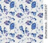 cute pattern of beautiful...   Shutterstock . vector #231865147