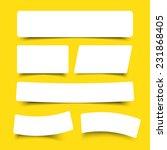 white paper banner round corner ... | Shutterstock .eps vector #231868405