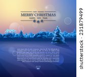 vector watercolor winter banner.... | Shutterstock .eps vector #231879499