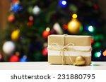 Gift Box On Christmas Tree...