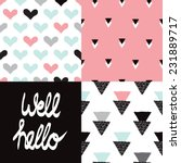 well hello geometric seamless... | Shutterstock .eps vector #231889717