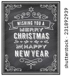 vector christmas greeting card... | Shutterstock .eps vector #231892939