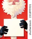 santa claus holding a sign | Shutterstock .eps vector #231895531