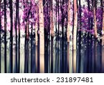 Abstract Forest In Motion Blur...