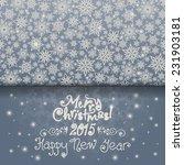 invitation new years christmas... | Shutterstock .eps vector #231903181