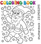 coloring book santa claus in... | Shutterstock .eps vector #231903295