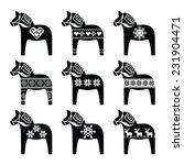 swedish dala  dalecarlian horse ... | Shutterstock .eps vector #231904471