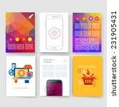 vector brochure design... | Shutterstock .eps vector #231905431