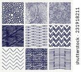 set of nine abstract pen...   Shutterstock .eps vector #231918211