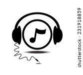 music note head phone vector... | Shutterstock .eps vector #231918859