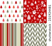 christmas patterns | Shutterstock .eps vector #231924481