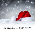 Santa Claus Hat With Snow And...