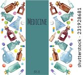 medical background  bottle ...   Shutterstock .eps vector #231928681