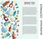 medical background  bottle ...   Shutterstock .eps vector #231934615
