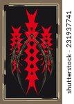 tarot cards   back design  the... | Shutterstock .eps vector #231937741